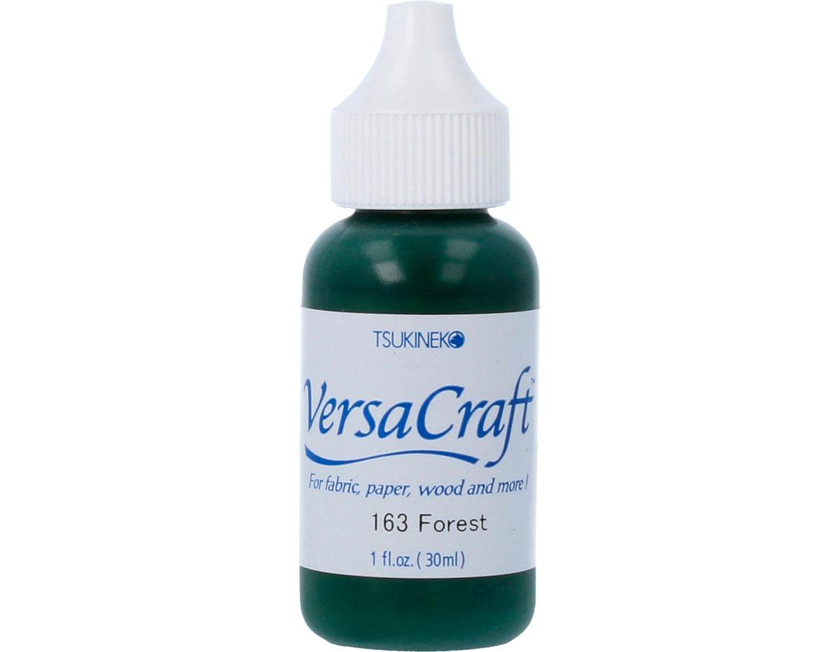 TRVK-163 Tinta VERSACRAFT para textil color bosque recarga Versacraft