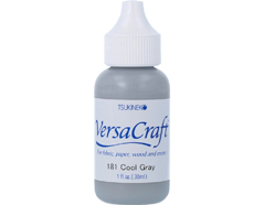 TRVK-181 Tinta VERSACRAFT para textil color gris frio recarga Versacraft
