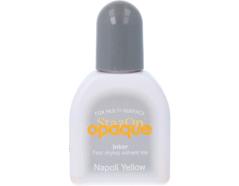 TRZ-111 Tinta STAZON OPAQUE para vidrio y plastico opaca color amarillo napolitano recarga Stazon opaque