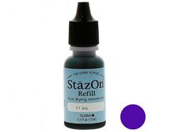 TRZ-11 Tinta STAZON para vidrio y plastico color flor de lis recarga Stazon