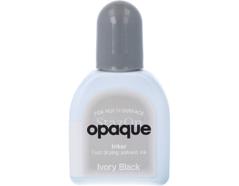 TRZ-182 Tinta STAZON OPAQUE para vidrio y plastico opaca color negro marfil recarga Stazon opaque