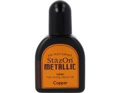 TRZ-193 Tinta STAZON METALLIC para vidrio y plastico metalica opaca color cobre recarga Stazon metallic