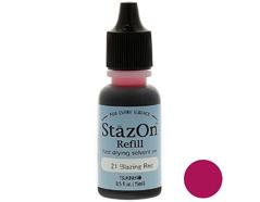 TRZ-21 Tinta STAZON para vidrio y plastico color rojo ardiente recarga Stazon