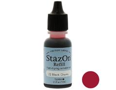 TRZ-22 Tinta STAZON para vidrio y plastico color cereza negra recarga Stazon