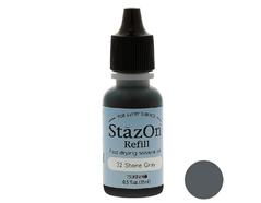 TRZ-32 Tinta STAZON para vidrio y plastico color gris piedra recarga Stazon