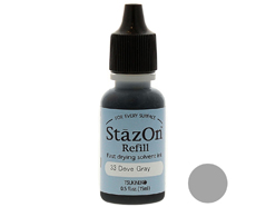 TRZ-33 Tinta STAZON para vidrio y plastico color gris paloma recarga Stazon