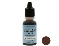 TRZ-41 Tinta STAZON para vidrio y plastico color marron madera recarga Stazon