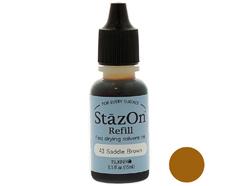 TRZ-43 Tinta STAZON para vidrio y plastico color marron cuero recarga Stazon