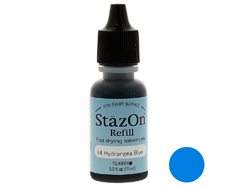 TRZ-64 Tinta STAZON para vidrio y plastico color azul hortensia recarga Stazon