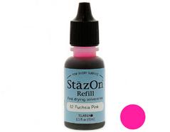 TRZ-82 Tinta STAZON para vidrio y plastico color rosa fucsia recarga Stazon