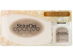 TSZ-181 Tinta STAZON OPAQUE para vidrio y plastico opaca color gris niebla almohadilla y recarga Stazon opaque