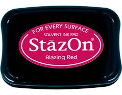TSZ-21 Tinta STAZON para vidrio y plastico color rojo ardiente Stazon