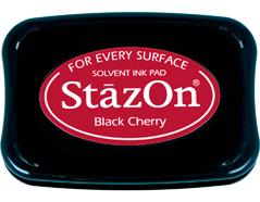 TSZ-22 Tinta STAZON para vidrio y plastico color cereza negra Stazon