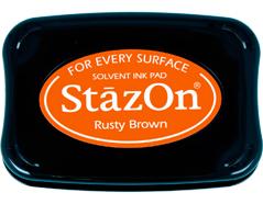 TSZ-42 Tinta STAZON para vidrio y plastico color marron oxido Stazon