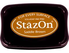 TSZ-43 Tinta STAZON para vidrio y plastico color marron cuero Stazon