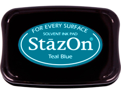 TSZ-63 Tinta STAZON para vidrio y plastico color azul verdoso Stazon