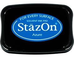 TSZ-95 Tinta STAZON para vidrio y plastico color azul celeste Stazon