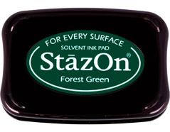 TSZ-99 Tinta STAZON para vidrio y plastico color verde bosque Stazon