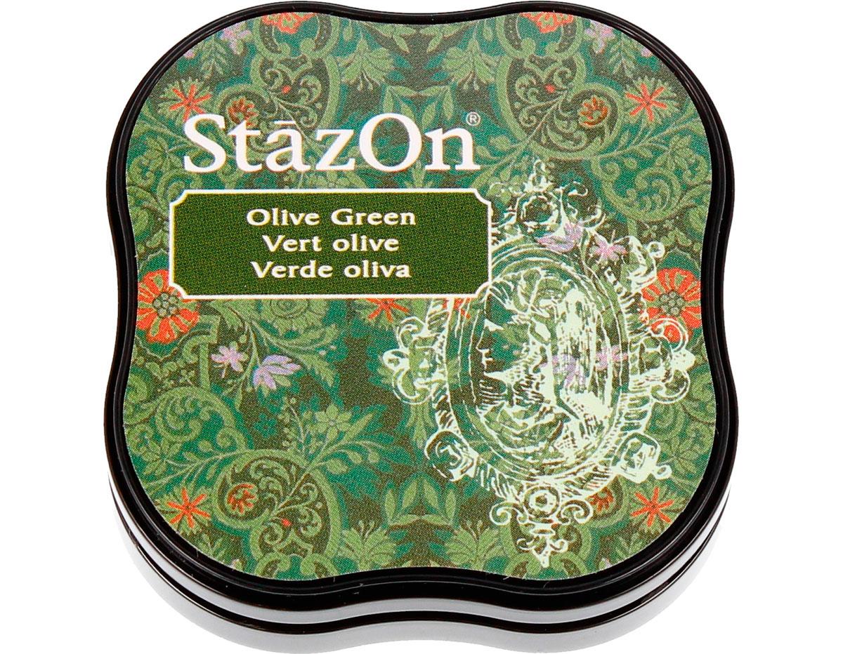 TSZ-MID-51 Tinta STAZON MIDI para vidrio y plastico color verde oliva Tsukineko