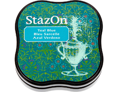 TSZ-MID-63 Tinta STAZON MIDI para vidrio y plastico color azul verdoso StazOn Midi