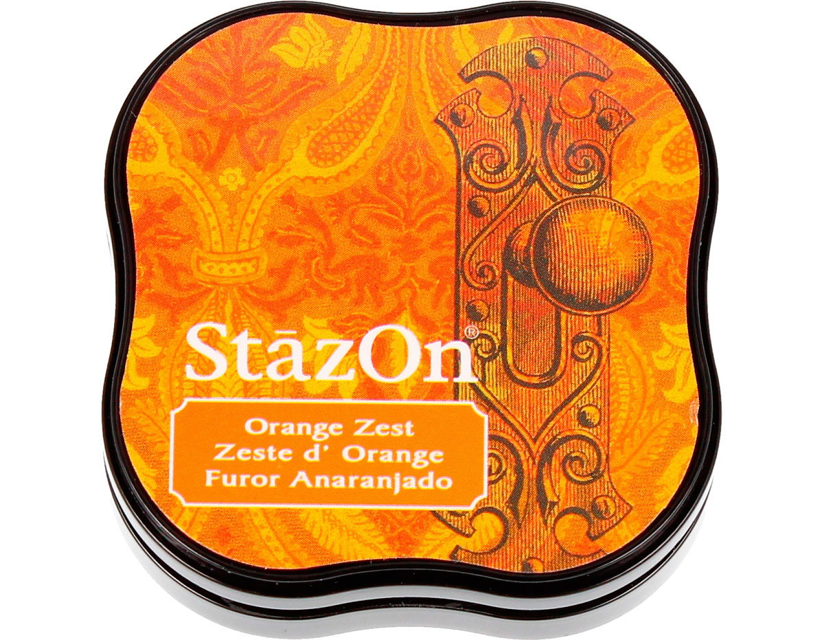 TSZ-MID-71 Tinta STAZON MIDI para vidrio y plastico color fluor anaranjado StazOn Midi