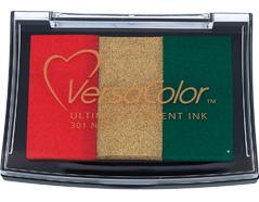 TVC3-301 Tinta VERSACOLOR 3 colores navidad opaca Versacolor