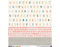 TYP-5004 Pegatinas alfabeto TYPE SET Basic Grey