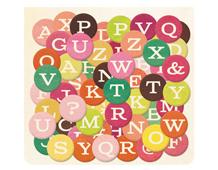 VIV-4770 Pegatinas alfabeto de carton VIVIENNE Basic Grey