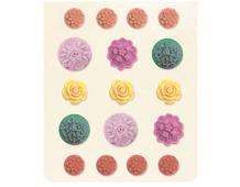 VIV-4772 Pegatinas flores de resina VIVIENNE Basic Grey