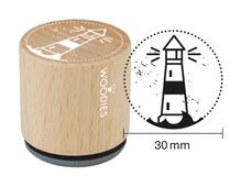 W10010 Sello de madera y caucho faro diam 33x30mm Woodies