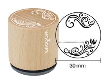 W22008 Sello de madera y caucho elemento decorativo diam 33x30mm Woodies
