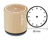 W27004 Sello de madera y caucho reloj diam 33x30mm Woodies