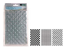 W28074 HOJAS plastico Creative metal DISENO - A 20 32x12 70cm 3 disenos distintos Creative metal