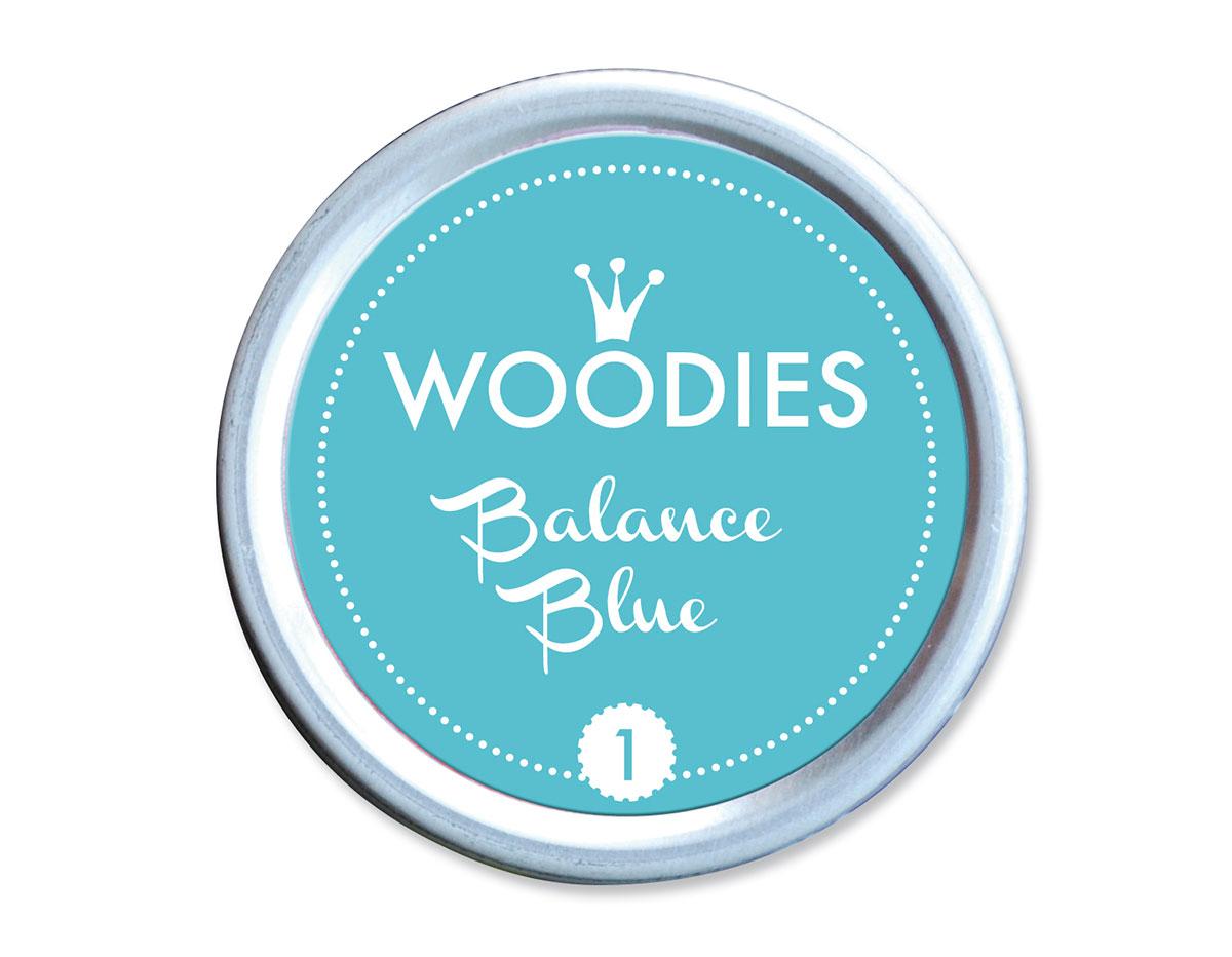 W99001 Almohadilla de tinta Balance Blue diam 38x22mm Woodies