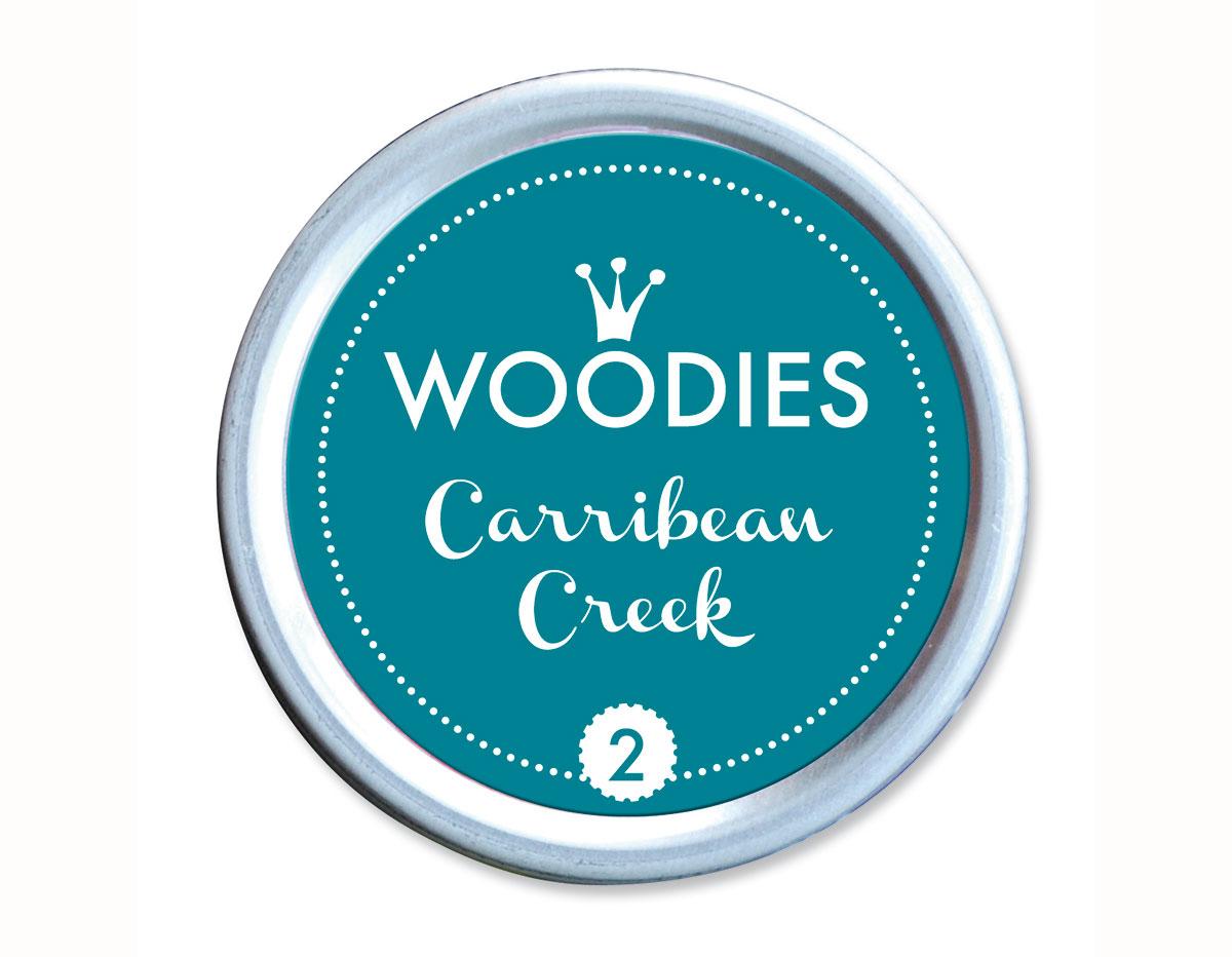 W99002 Almohadilla de tinta Carribean Creek diam 38x22mm Woodies