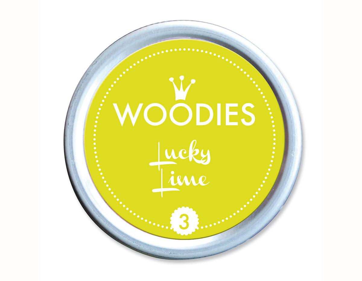 W99003 Almohadilla de tinta Lucky Lime diam 38x22mm Woodies
