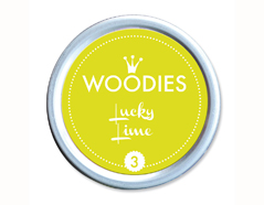W99003 Almohadilla de tinta Lucky Lime diam 38x22mm Woodies