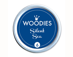 W99006 Almohadilla de tinta Silent Sea diam 38x22mm Woodies