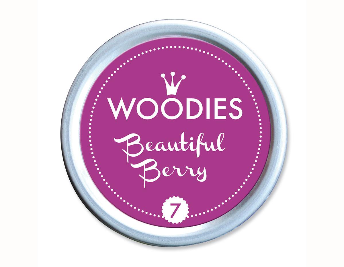 W99007 Almohadilla de tinta Beautiful Berry diam 38x22mm Woodies