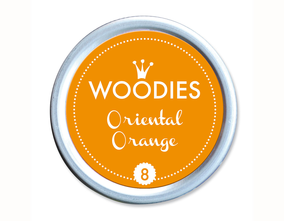 W99008 Almohadilla de tinta Oriental Orange diam 38x22mm Woodies
