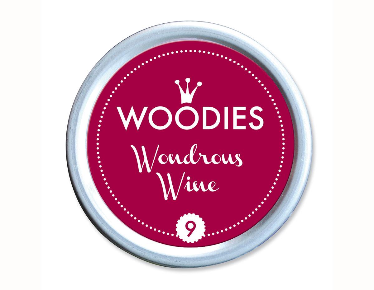 W99009 Almohadilla de tinta Wondrous wine diam 38x22mm Woodies