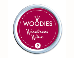 W99009 Almohadilla de tinta Wondrous wine diam 38x22mm Woodies