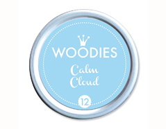 W99012 Almohadilla de tinta Calm Cloud diam 38x22mm Woodies