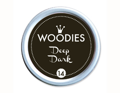 W99014 Almohadilla de tinta Deep Dark diam 38x22mm Woodies