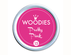W99015 Almohadilla de tinta Pretty Pink diam 38x22mm Woodies
