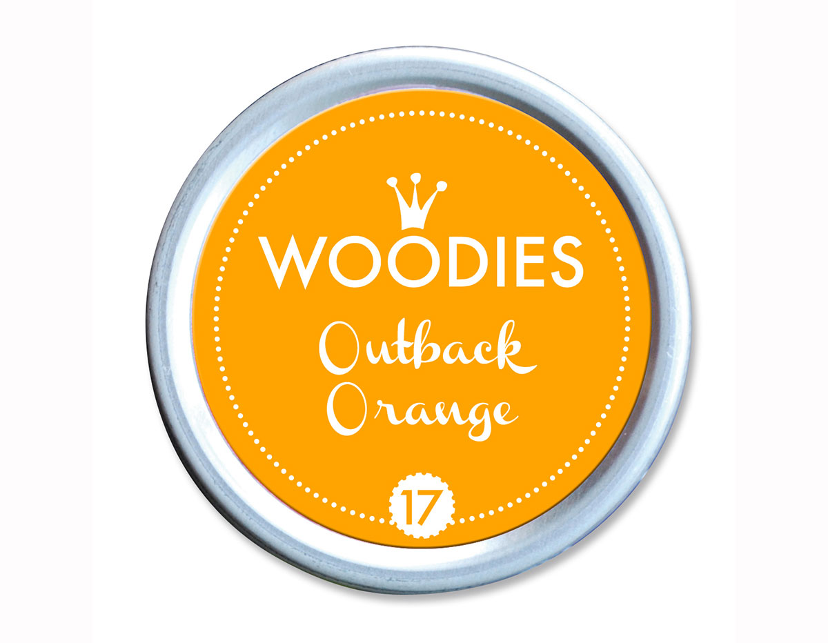 W99017 Almohadilla de tinta Outback Orange diam 38x22mm Woodies