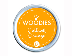 W99017 Almohadilla de tinta Outback Orange diam 38x22mm Woodies