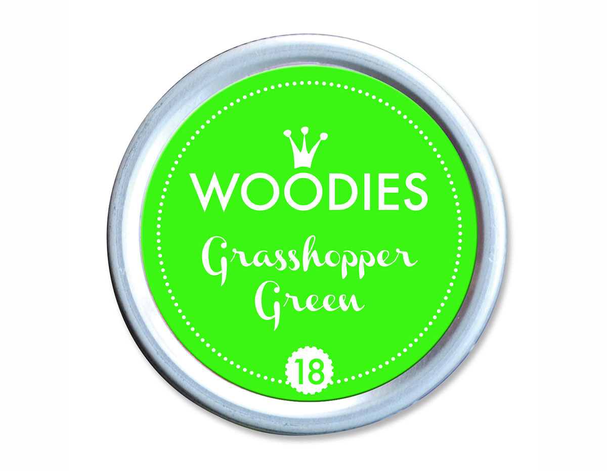 W99018 Almohadilla de tinta Grasshoper Green diam 38x22mm Woodies
