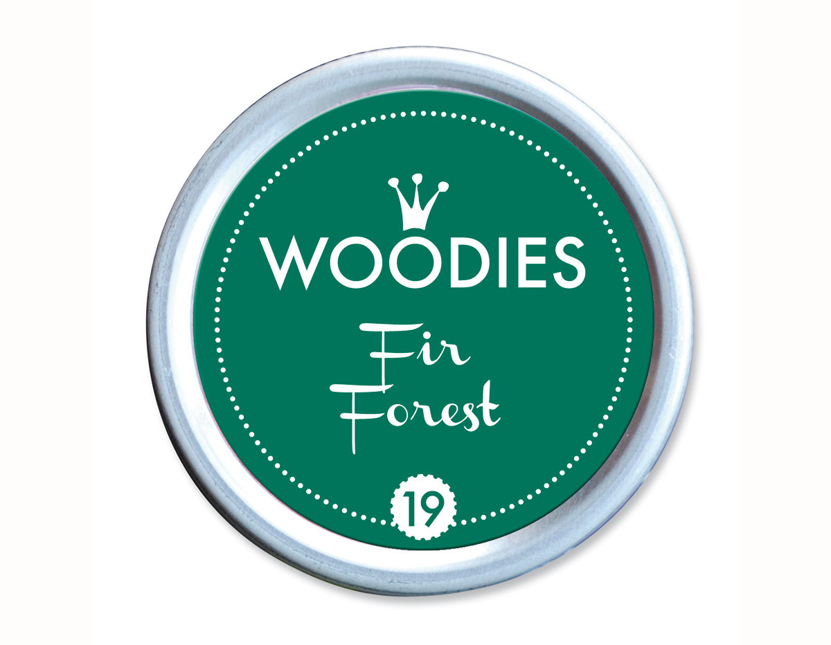 W99019 Almohadilla de tinta Fir Forest diam 38x22mm Woodies