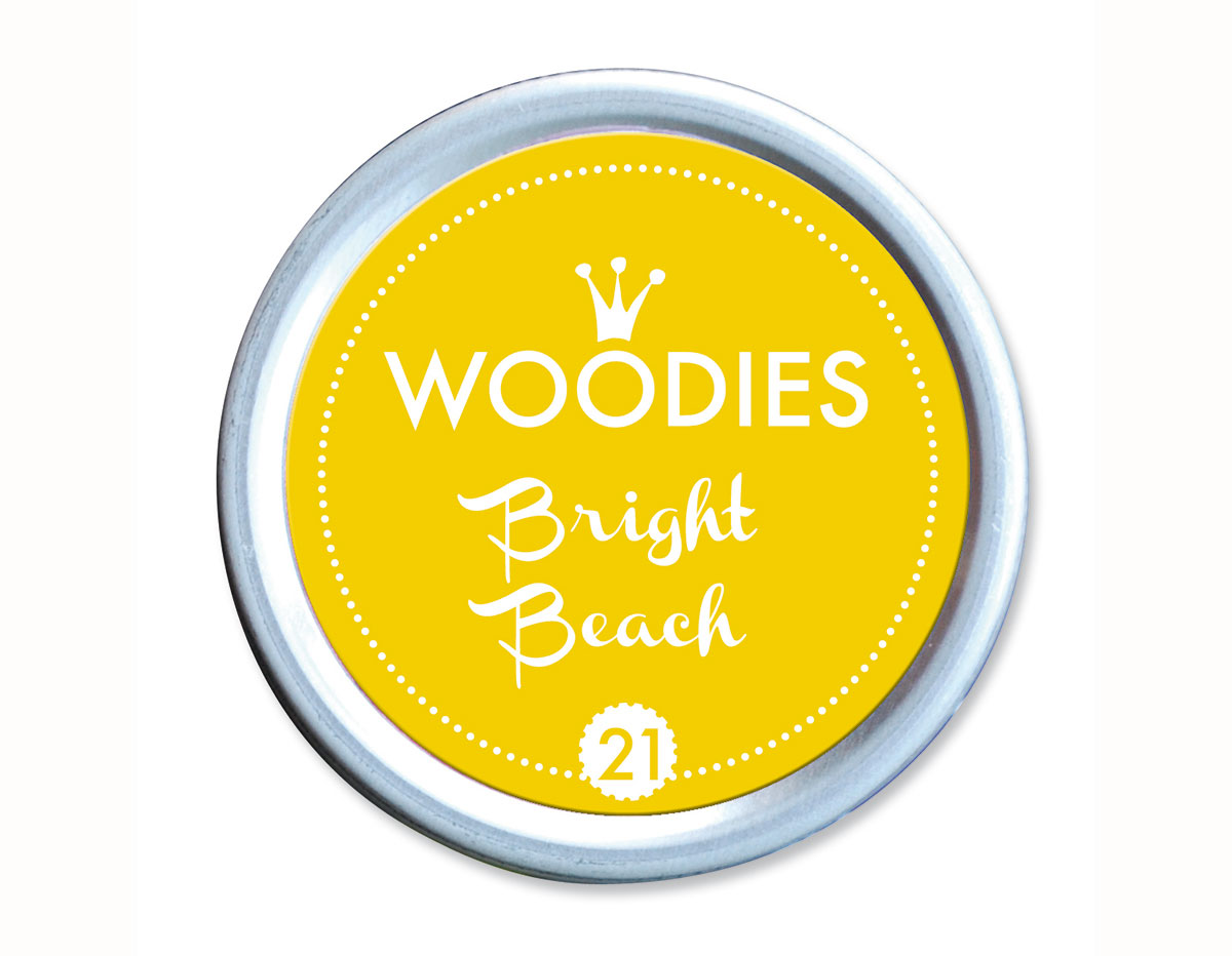 W99021 Almohadilla de tinta Bright Beach diam 38x22mm Woodies